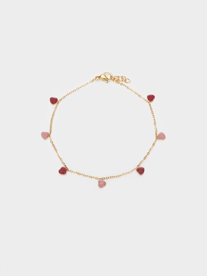 Stainless Steel Heart Bracelet, Multicolor, hi-res