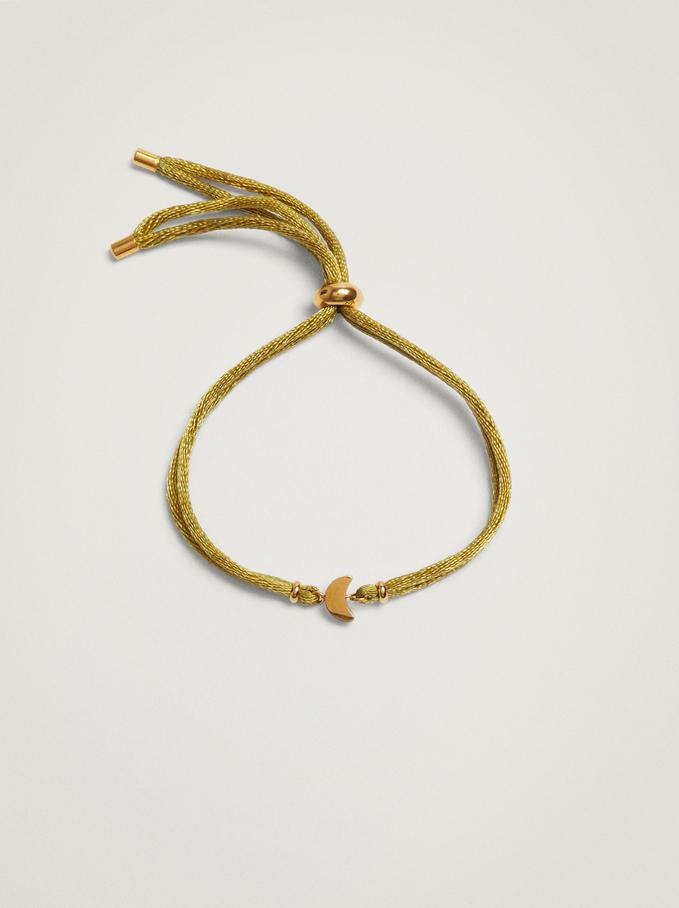 Bracelet Réglable Avec Lune En Acier, Gris, hi-res