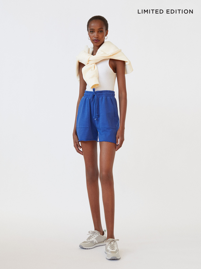 Limited Edition Shorts With Pockets, Blue, hi-res