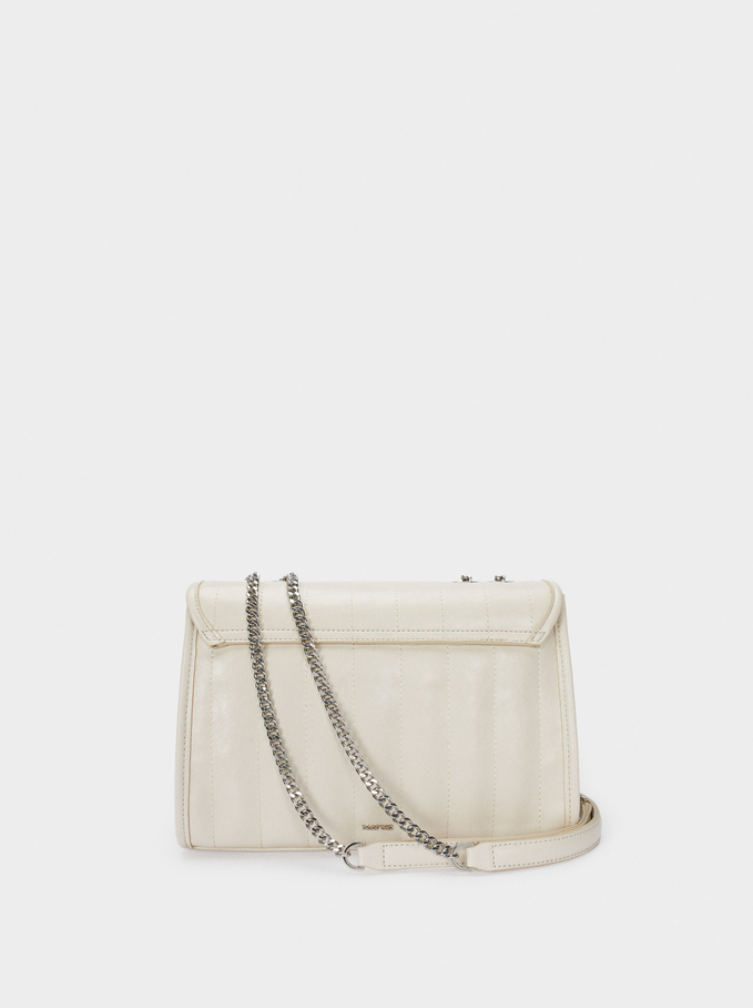 Crossbody Bag With Contrast Strap, White, hi-res