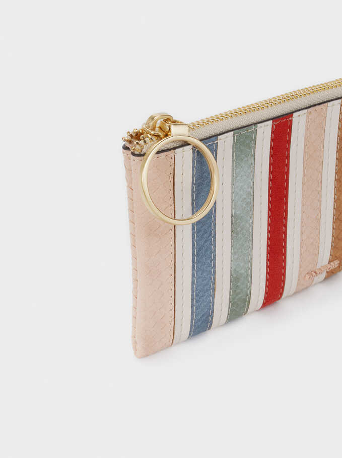Multicoloured Pencil Case, Ecru, hi-res