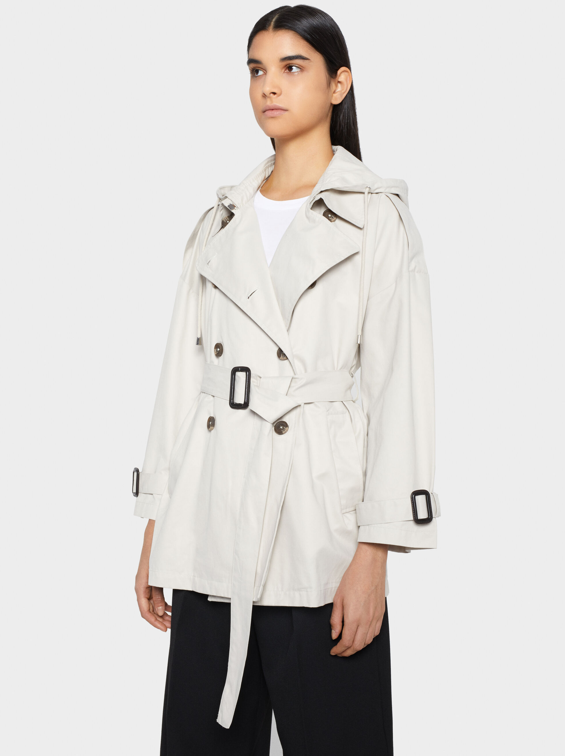 Short Trench Coat, , hi-res