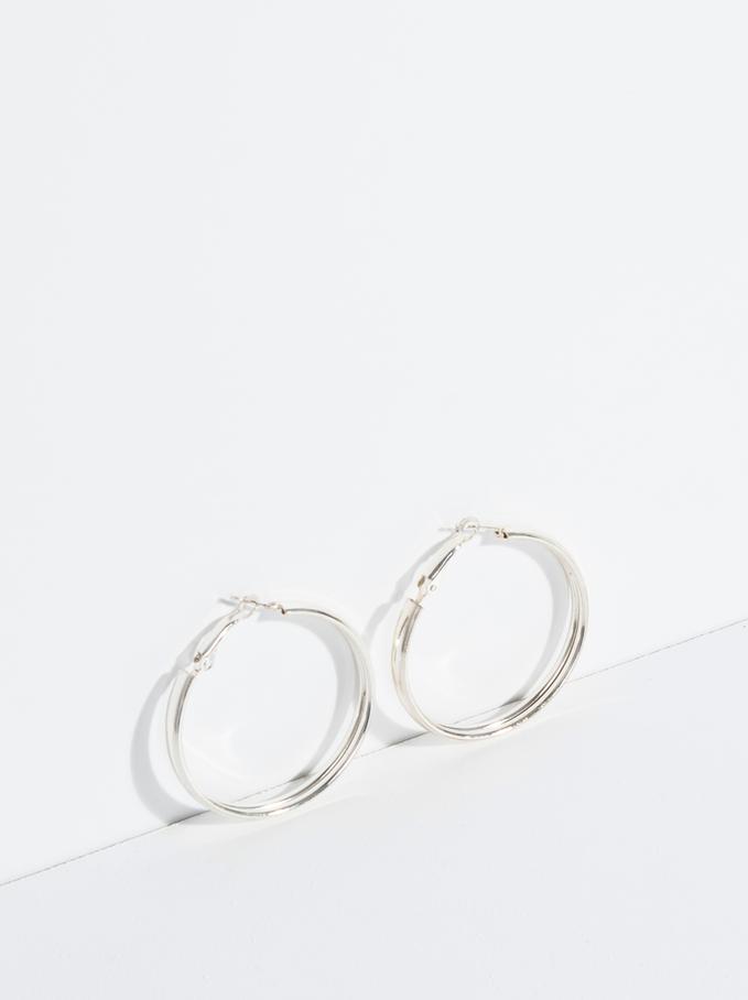 Basic Grandes Hoop-Earrings, Silver, hi-res