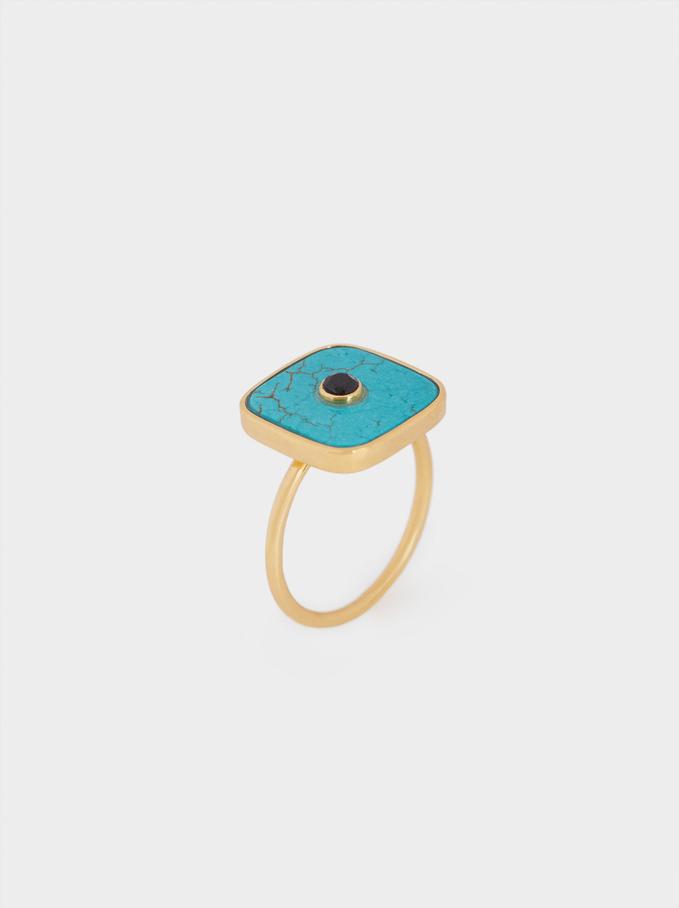 925 Silver Signet Ring, Multicolor, hi-res