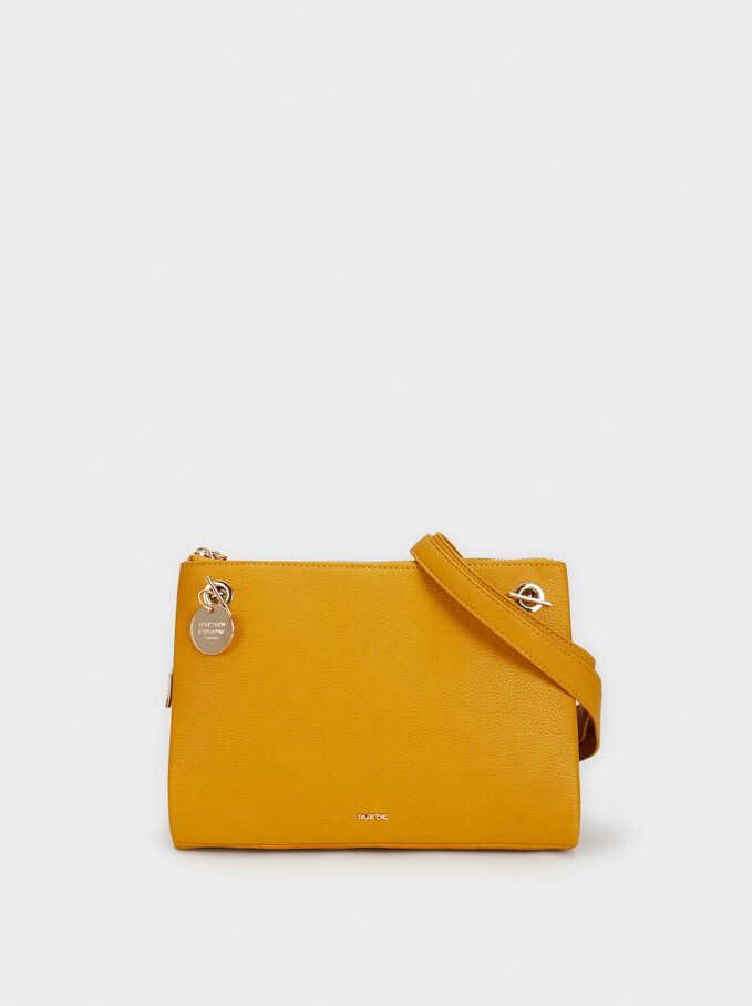 Crossbody Bag With Chain Handle, Mustard, hi-res