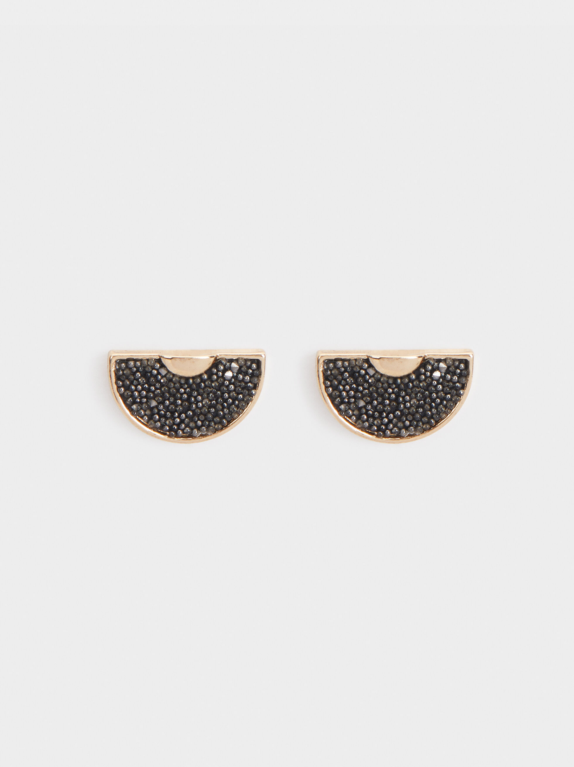 Short Earrings With Rhinestones, , hi-res