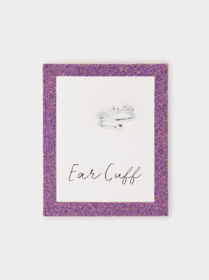 Star Ear Cuff Earring, Silver, hi-res