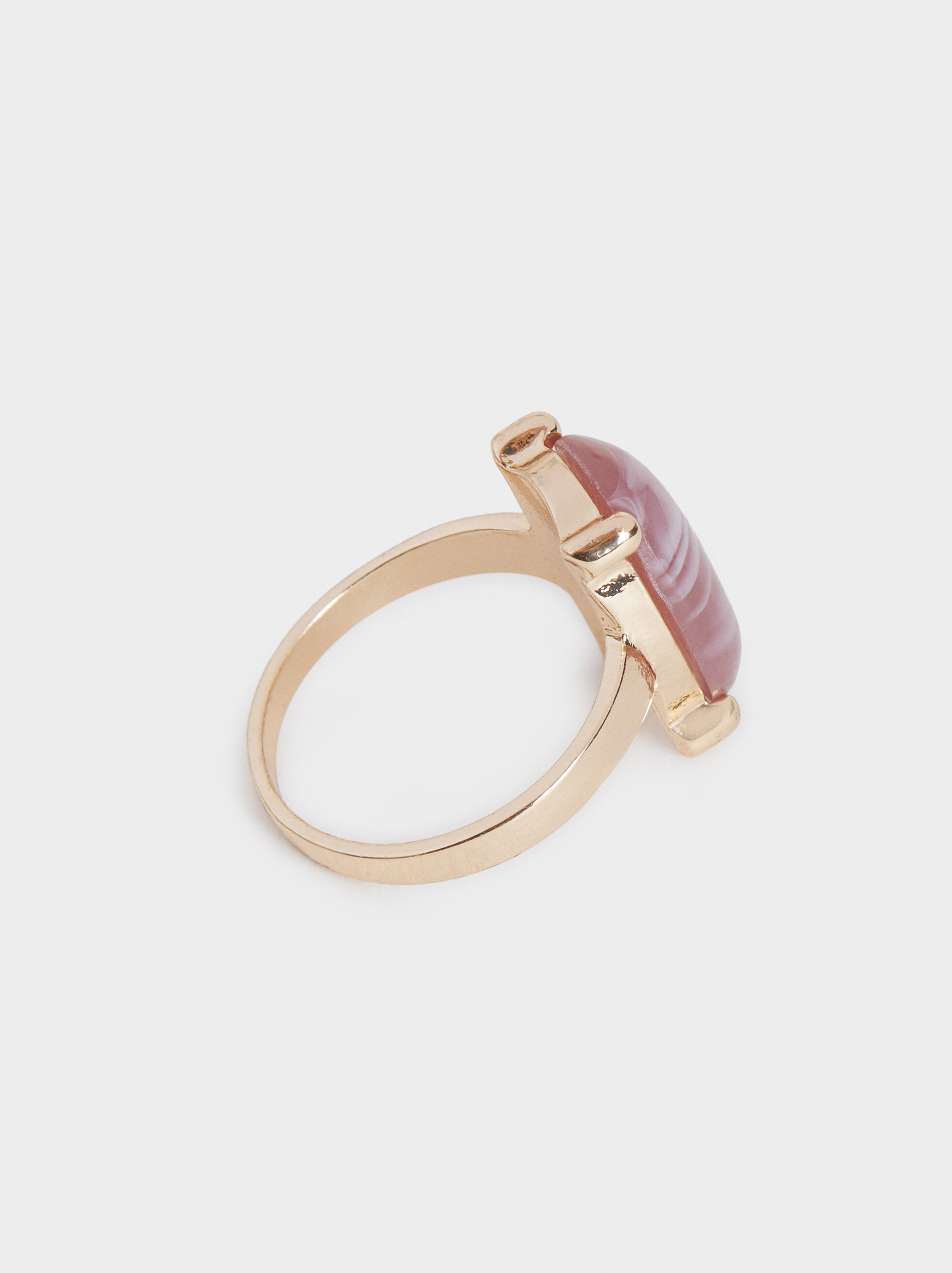 Savage Sparkle Ring With Stone, Pink, hi-res