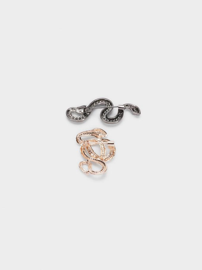Conjunto De Broches Con Serpientes, Multicor, hi-res