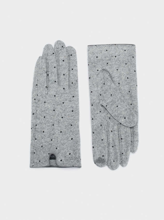 Wool Gloves, Grey, hi-res