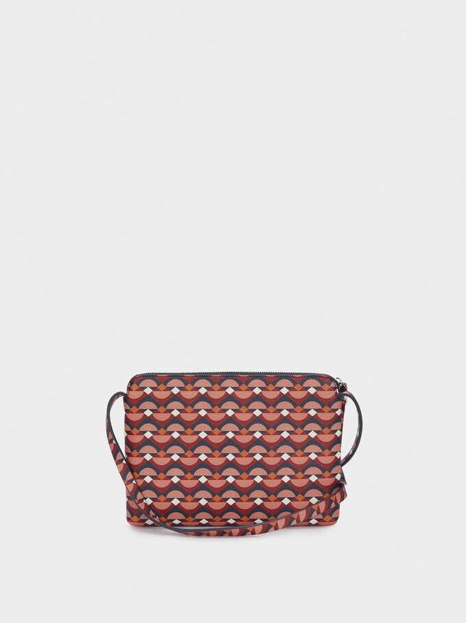 Printed Crossbody Bag, Red, hi-res