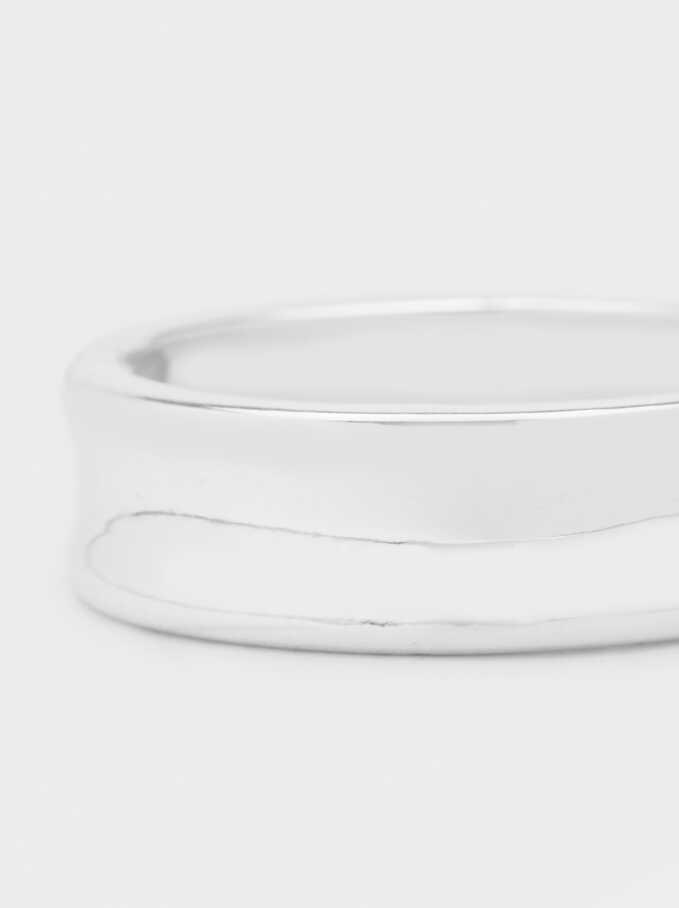 Silver-Plated Rigid Bracelet, Silver, hi-res