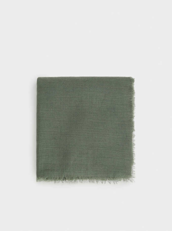 Plain Pashmina, Green, hi-res