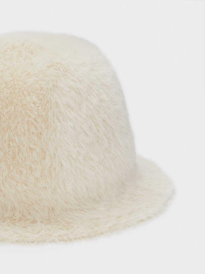 Faux Fur Hat, Beige, hi-res