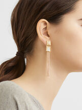 Long Fringed Earrings, , hi-res