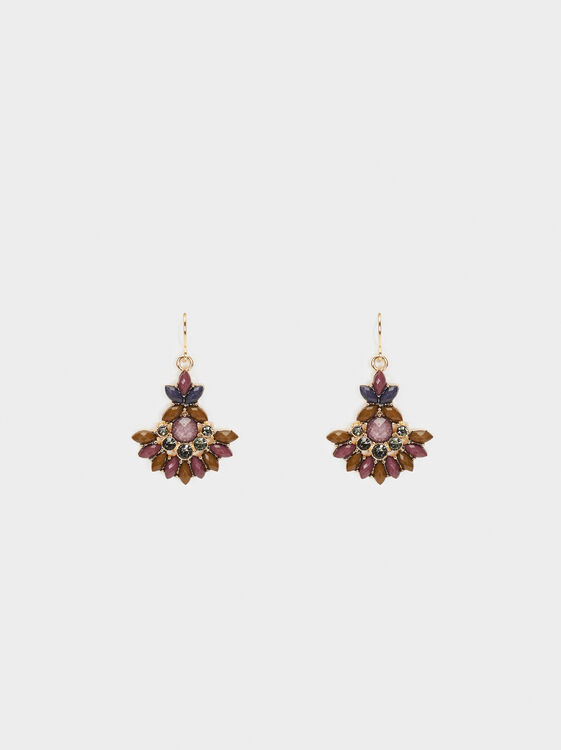 Savage Sparkle Medium Earrings, Multicolor, hi-res