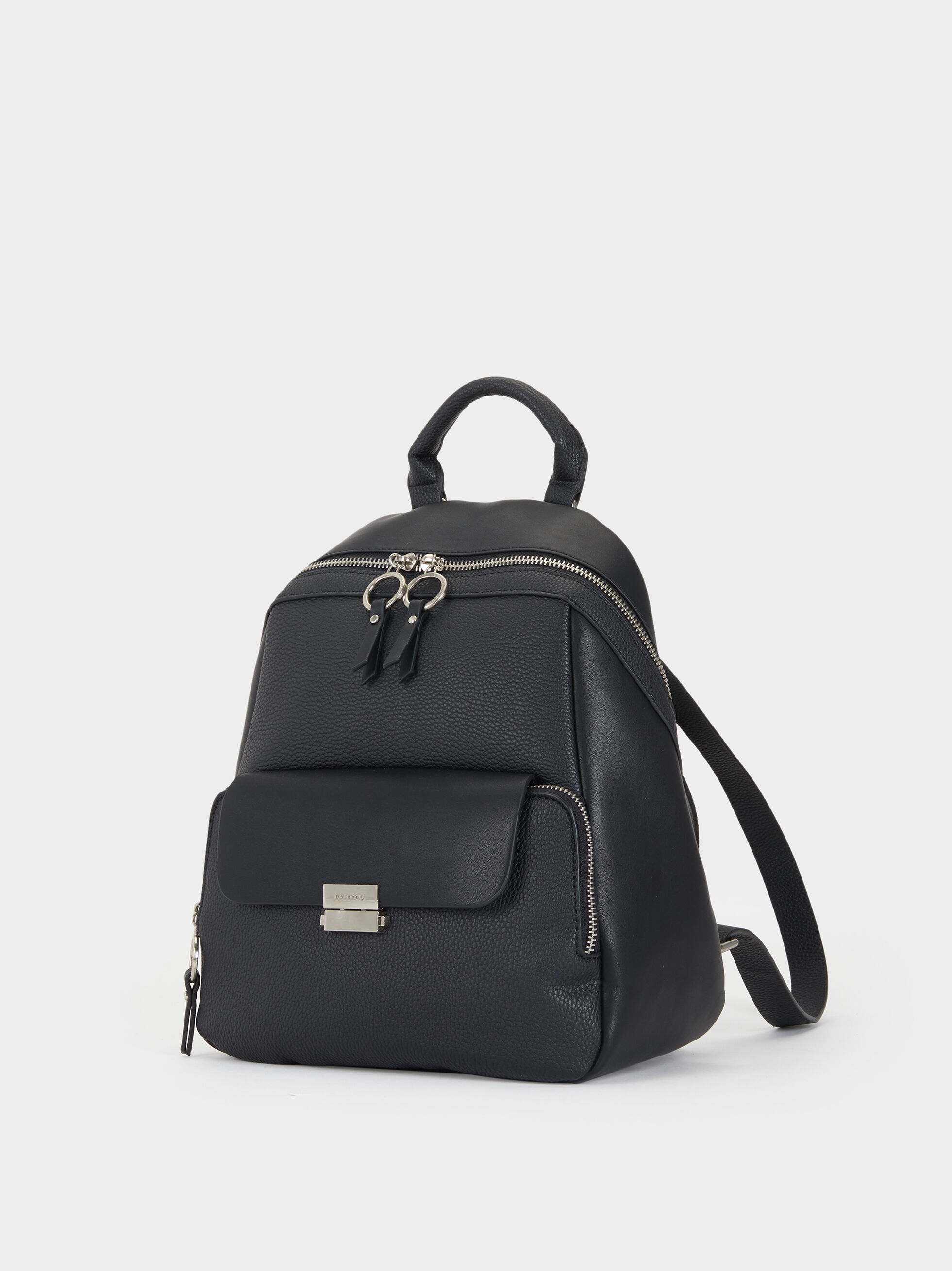 Backpack With Outer Pocket, Black, hi-res