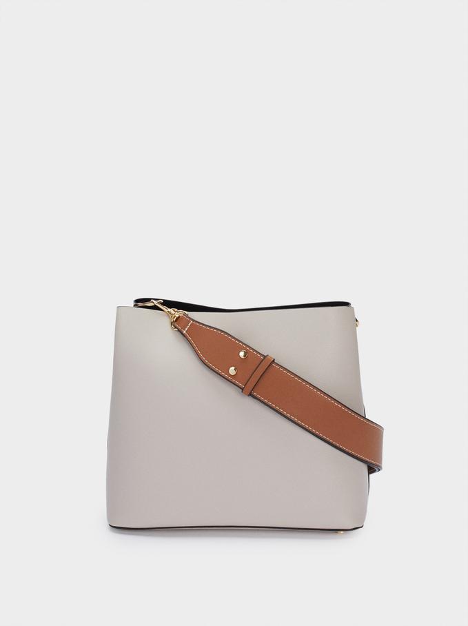 Shoulder Bag With Removable Shoulder Strap, Ecru, hi-res