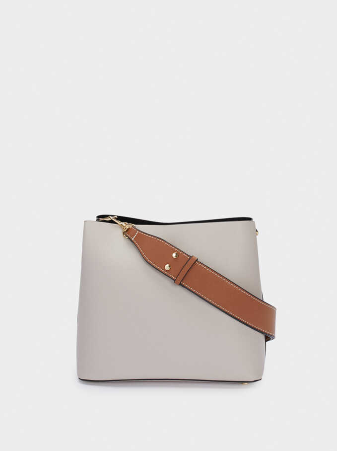 Shoulder Bag With Removable Shoulder Strap, Ecru, hi-res