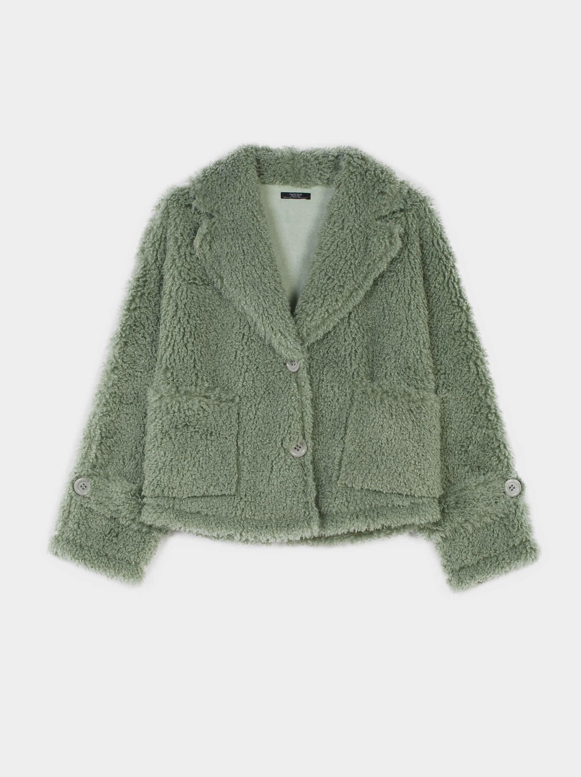 Teddy Coat, Grey, hi-res