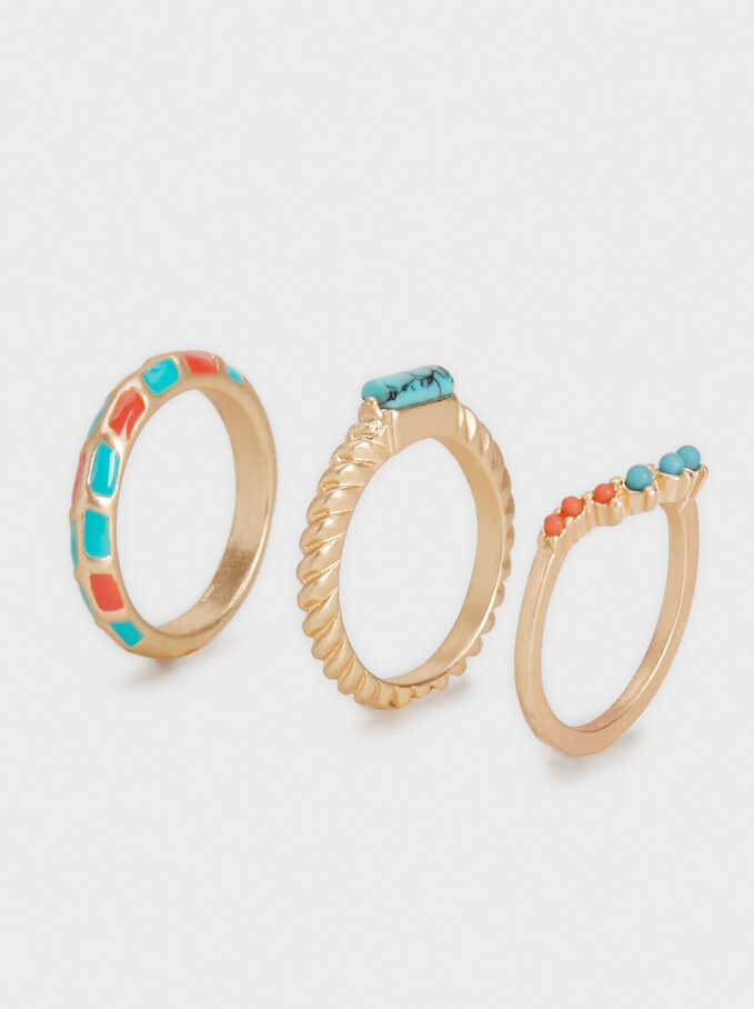 Set Of Wanderings Rings, Multicolor, hi-res