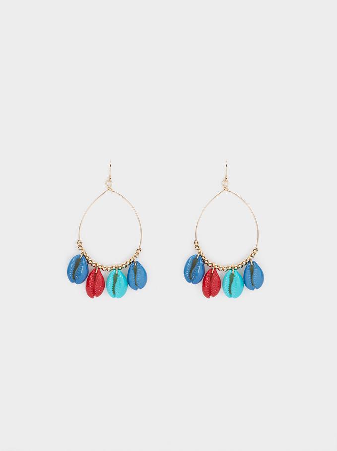 Recife Long Drop Earrings With Shells, Multicolor, hi-res