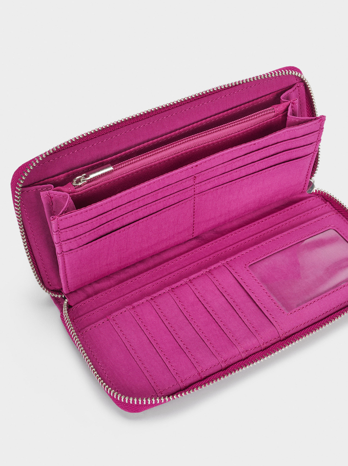 Large Nylon Wallet, Purple, hi-res