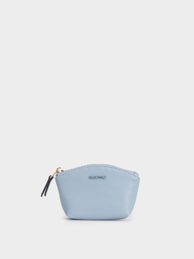 Plain Purse With A Zip Fastening, Blue, hi-res