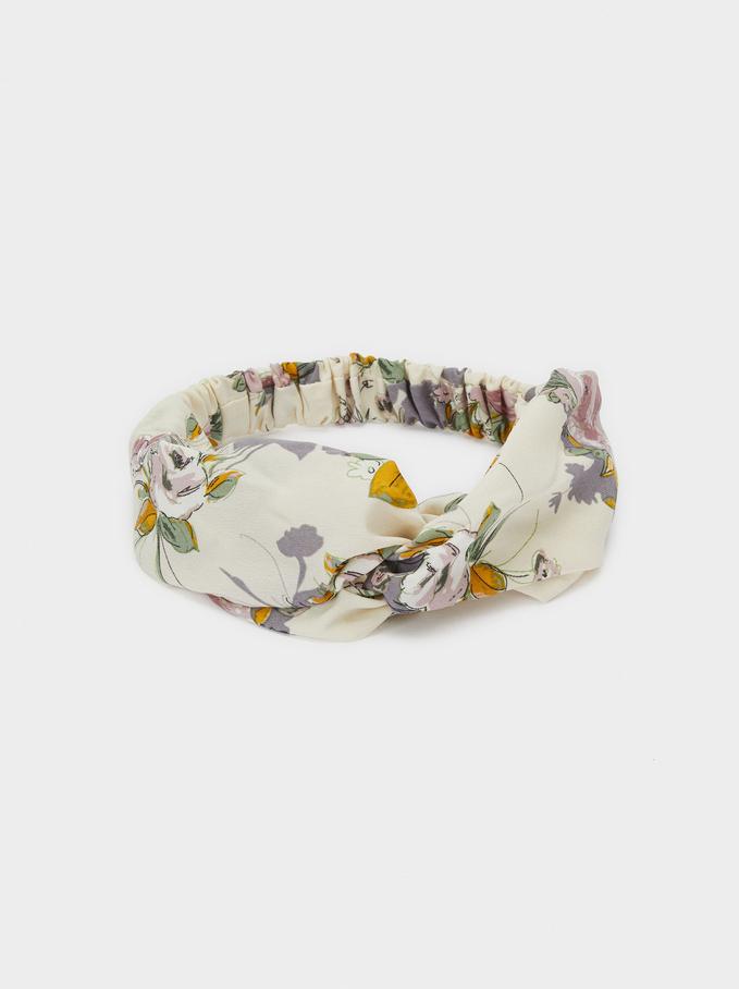 Bandeau Diadème Imprimé Floral, Multicolore, hi-res