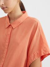 Sleeveless Oversized Shirt, Pink, hi-res