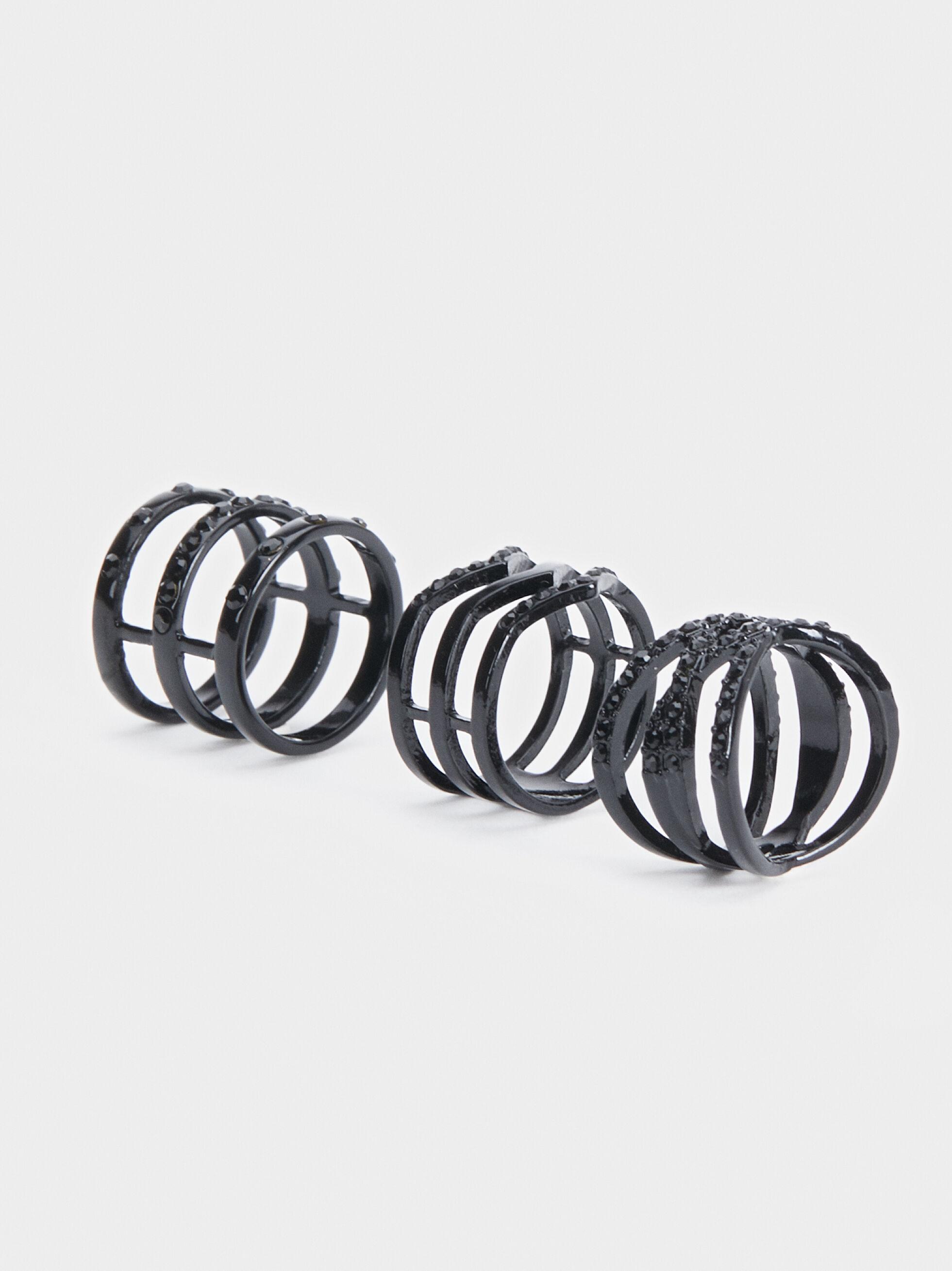 Set Of Stud Rings, , hi-res