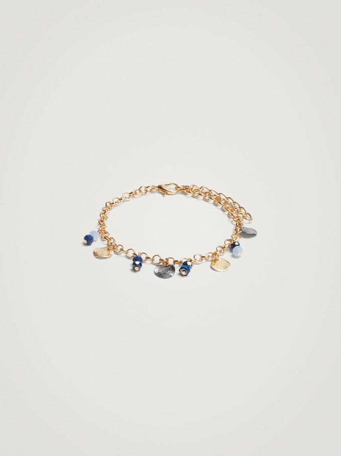Verstellbares Armband Mit Zierkristallen, Blau, hi-res