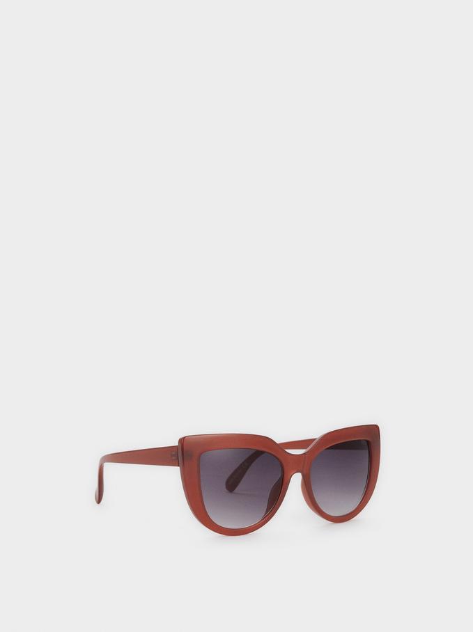 Resin Cat-Eye Sunglasses, Purple, hi-res