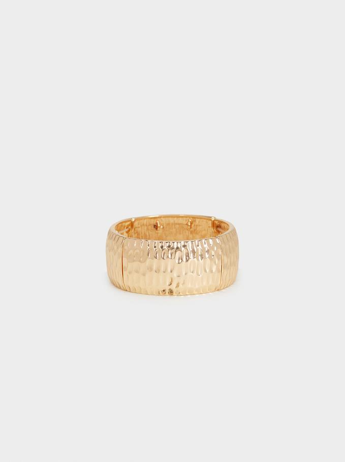 Bracelet Élastique Doré , Doré, hi-res