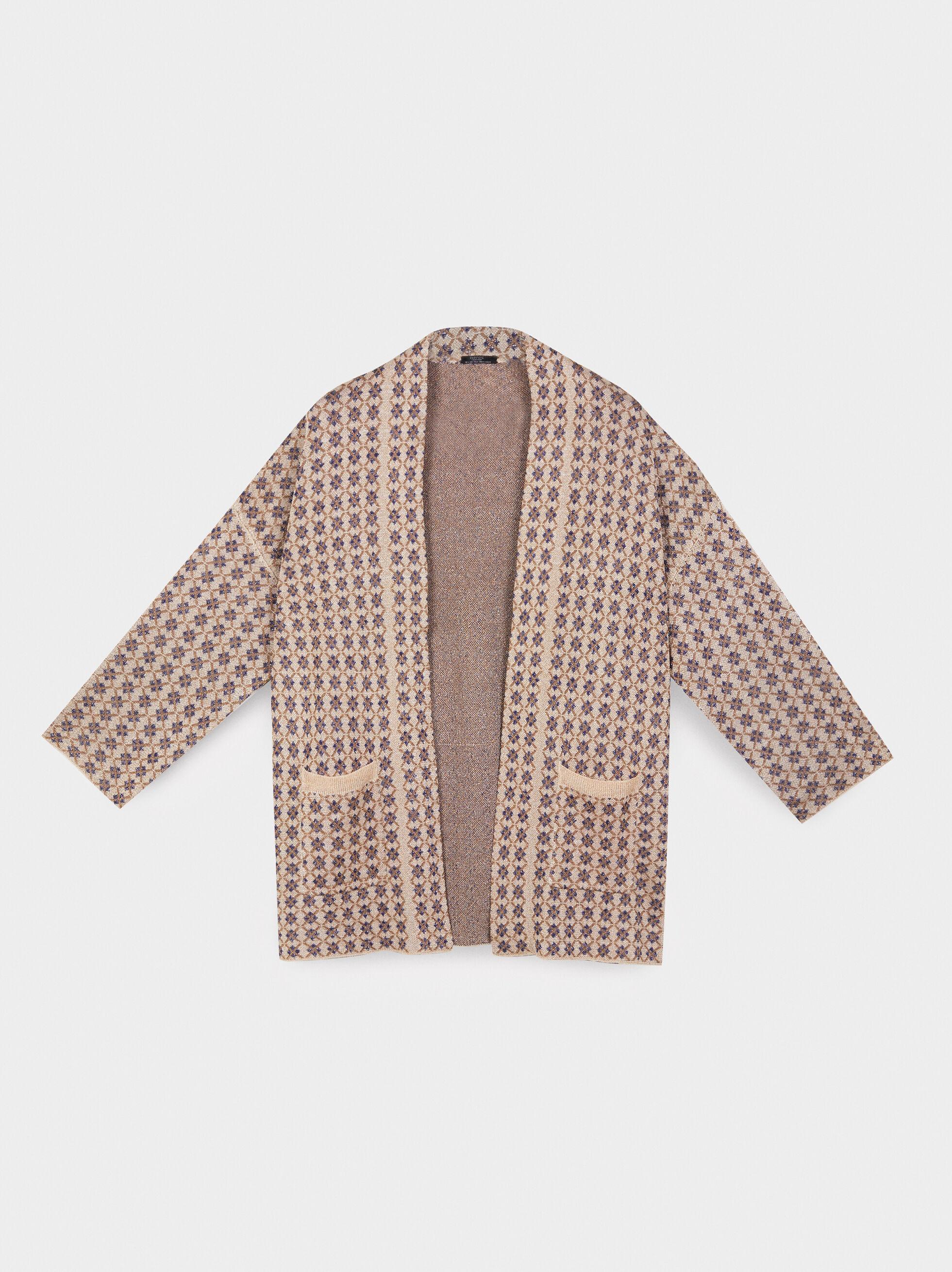 Printed Kimono, Golden, hi-res