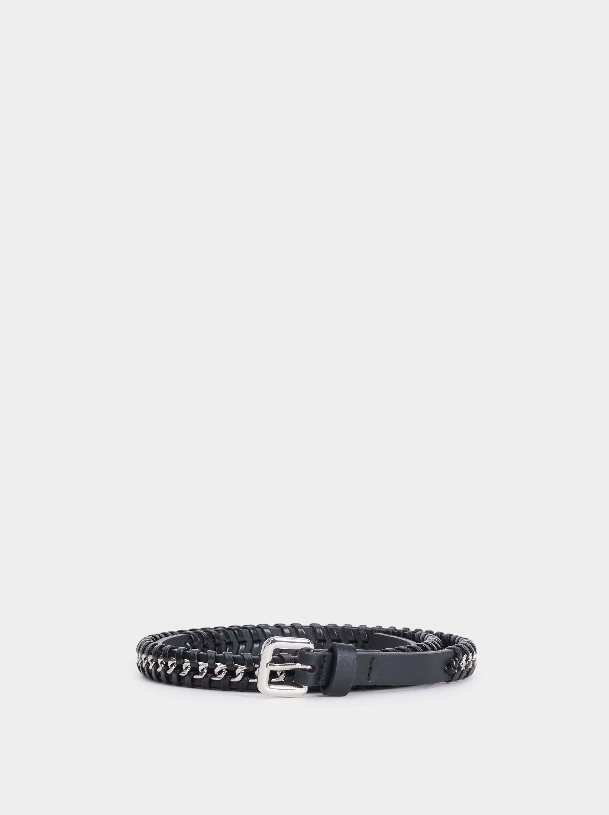 Braided Belt, Black, hi-res