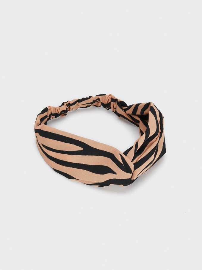Animal Print Headband, Pink, hi-res