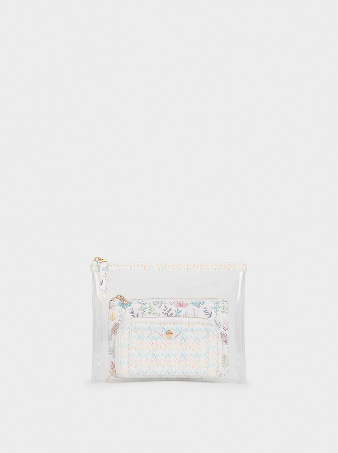 Multi-Use Vinyl Bag, Pink, hi-res