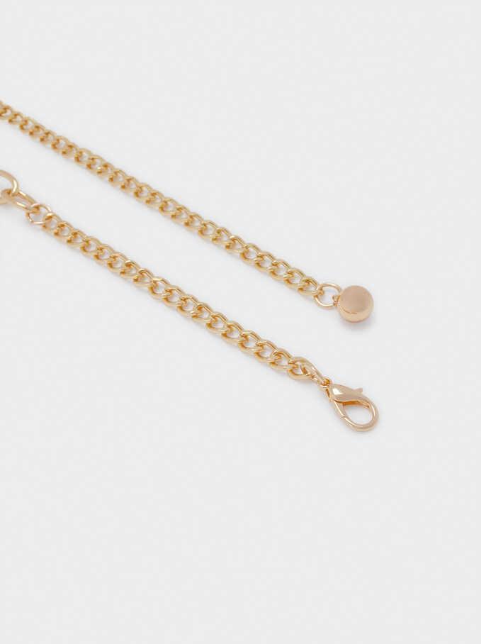 Stretch Metal Belt, Golden, hi-res