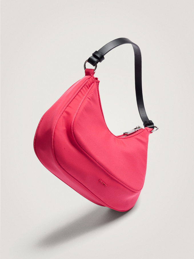 Nylon Shoulder Bag, Pink, hi-res