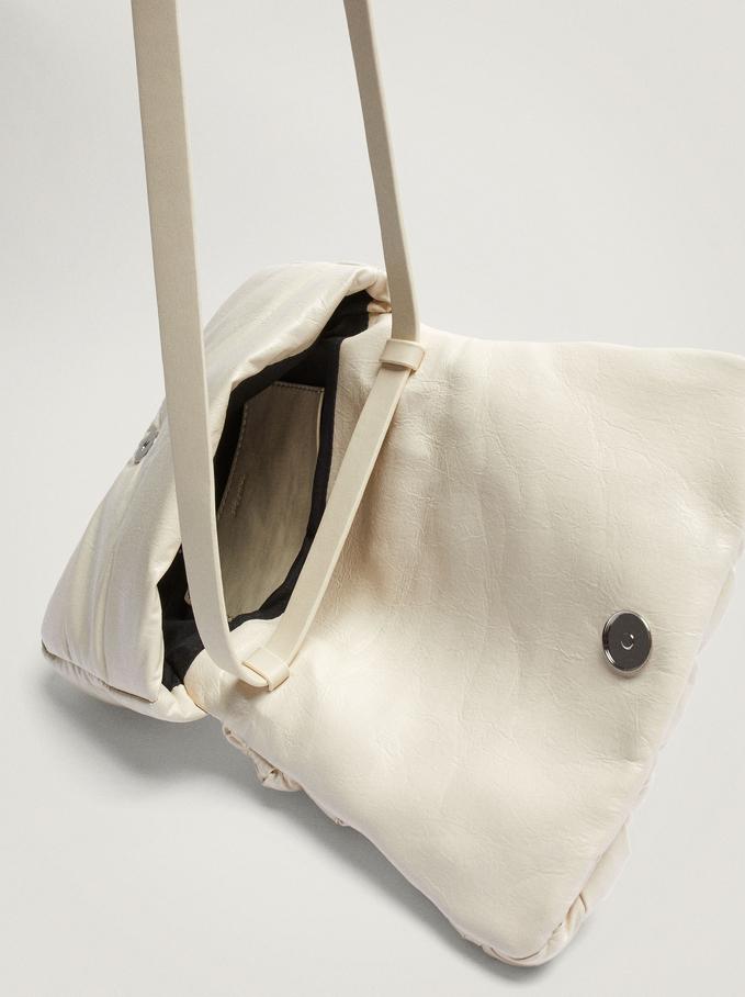Braided Crossbody Bag With Front Flap Closure, Ecru, hi-res