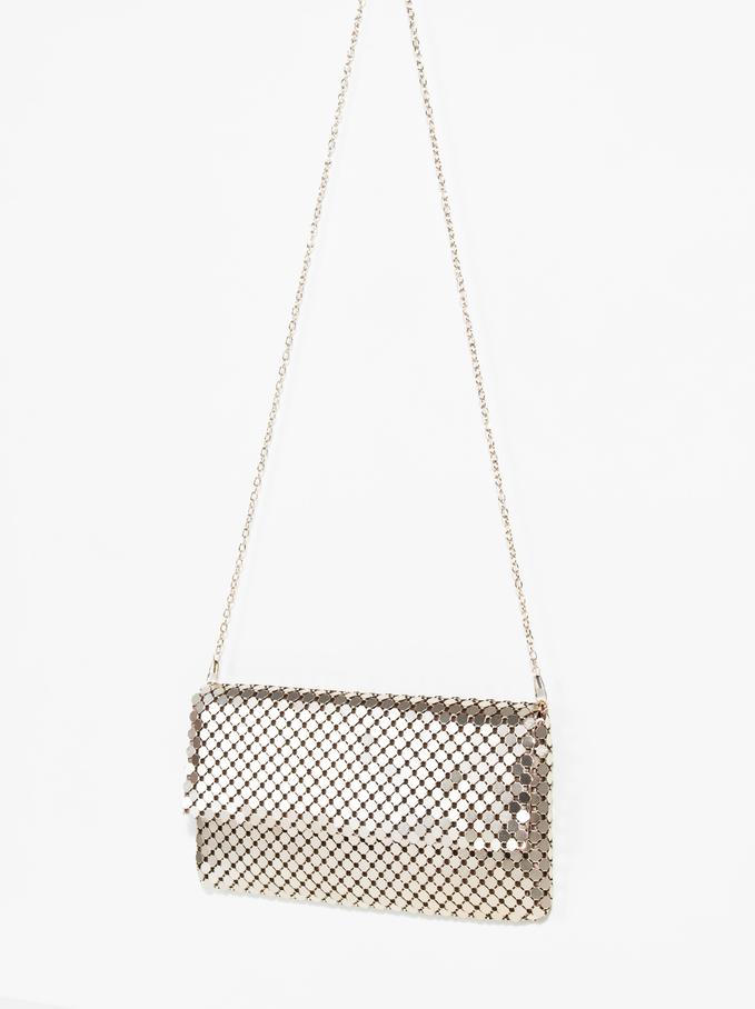 Big Mesh Hand Bag, Golden, hi-res