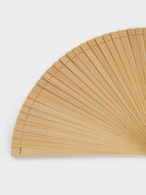 Bamboo Fan, Beige, hi-res