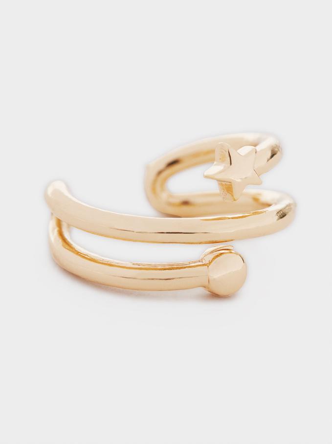 Gold Star Cuff Earring, Golden, hi-res