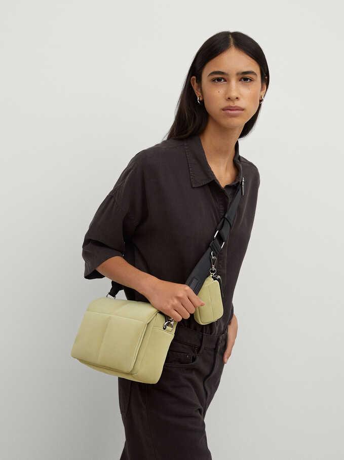 Quilted Crossbody Bag, Green, hi-res