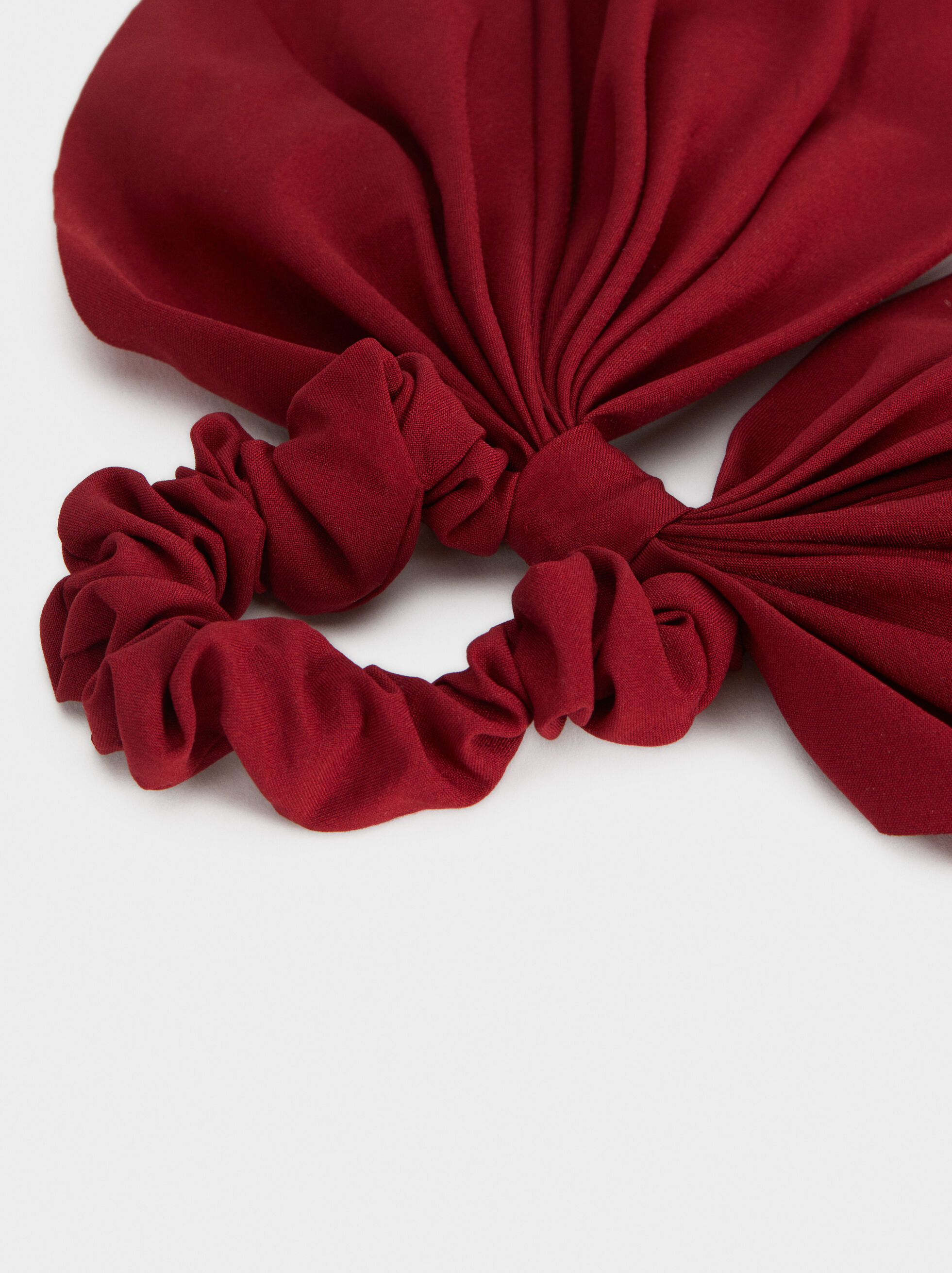 Plain Scrunchie, Red, hi-res