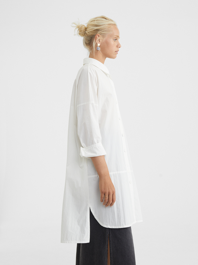 Lightweight Jacket With Pockets, White, hi-res