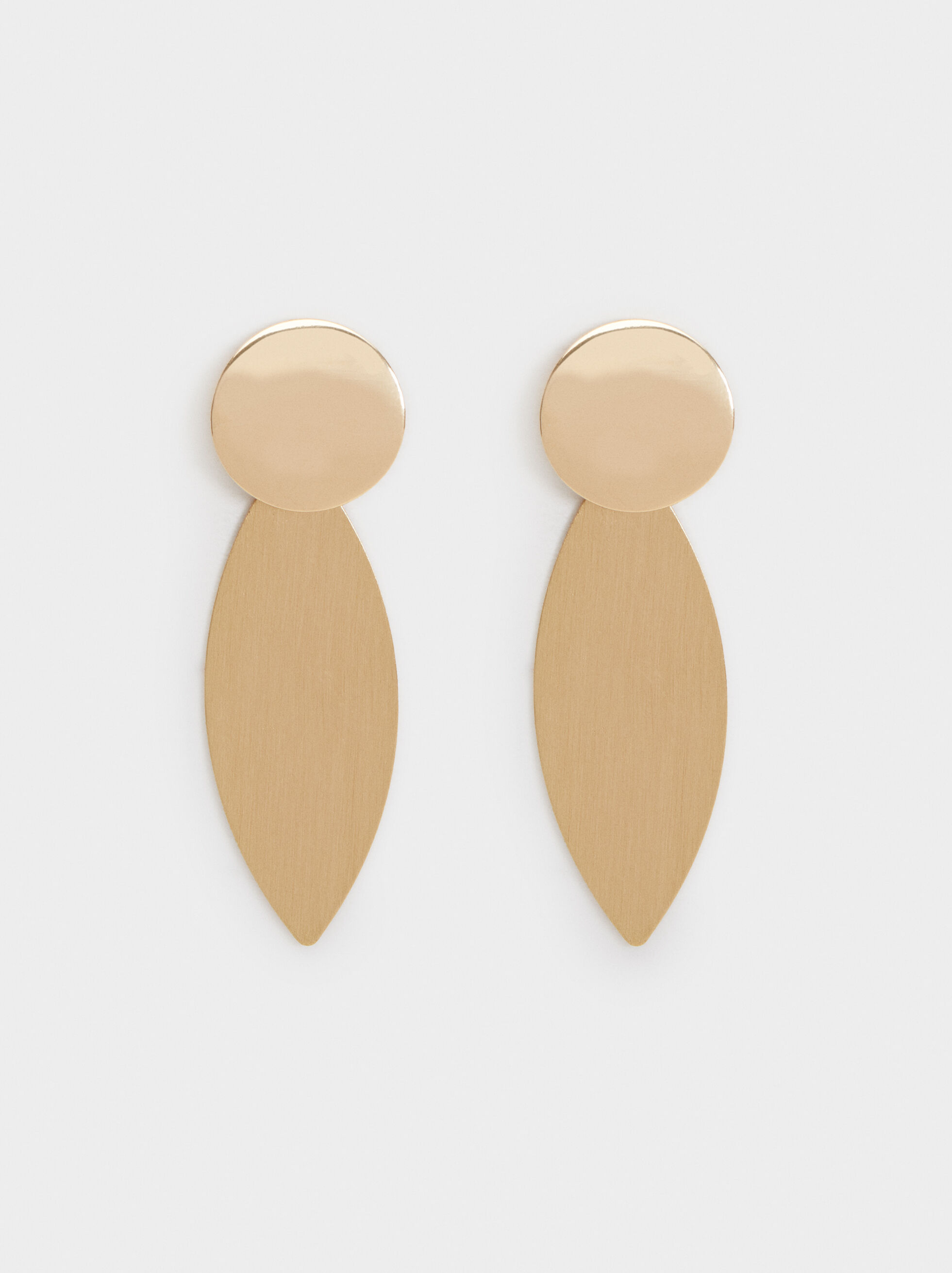 Basic Long Earrings, Golden, hi-res