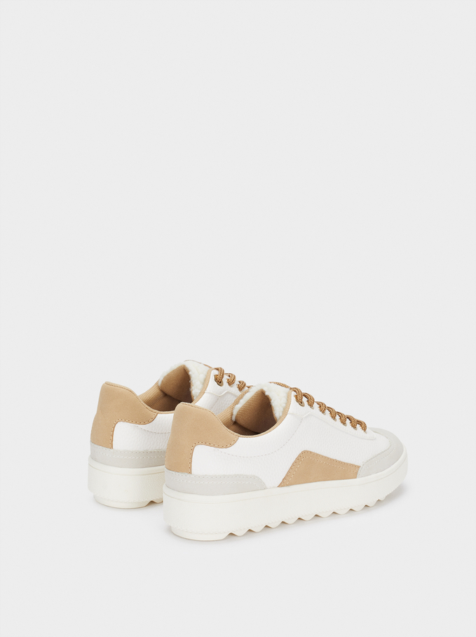 Contrast Sneakers, White, hi-res