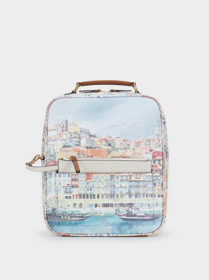 Oporto Travel Travel Backpack, Camel, hi-res